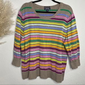 Lands' end striped colorful long sleeve top